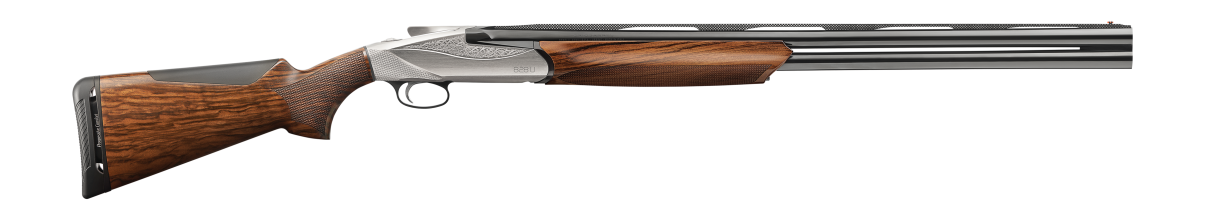 828 U Shotgun - AA-Grade Satin Walnut stock finish - Engraved Nickel-plated receiver - 12 gauge - item number 10704
