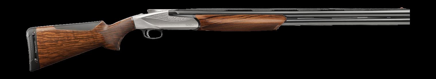 828 U Shotgun - AA-Grade Satin Walnut stock finish - Engraved Nickel-plated receiver - 12 gauge - item number 10704